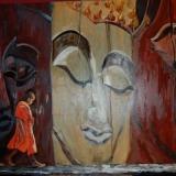 Boeddah's (opdracht) olieverf op doek 1.60x1.20m ●Yvonne Kieft 2008-2009