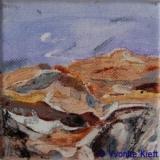 Landschappelijk IV, acryl op doek 10x10 cm. Yvonne Kieft 2009