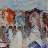 Landschappelijk III Dorp, acryl op doek ●Yvonne Kieft 2009