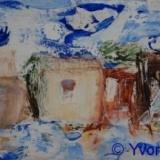 Dorp VI, olieverf gem. techn._Yvonne Kieft 2009