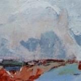 ●Friesland II, acryl 10x30 cm. 2009 Yvonne Kieft