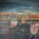 Nes ad Amstel I 65x60, acryl op zeildoek 2010 Y. Kieft