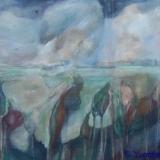 Nes III; Het Groene Hart, acryl op zeildoek 70x55_Y. Kieft 2010