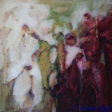 ●Florale I, olieverf op doek 30x30 Yvonne Kieft 2011