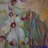 ●Florale II, olieverf op doek 30x30 Yvonne Kieft 2011