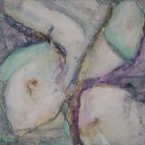 Close, olieverf, potlood op doek 20x20 cm.Y. Kieft 2014