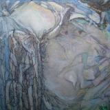 Close-New Born, olieverf gem. techn. 20x20 cm. Y. Kieft 2014