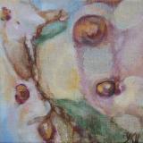 Florale VIII, olieverf op doek 20x20 Yvonne Kieft 2011