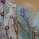 Florale III, olieverf op doek 30x30 Yvonne Kieft 2011