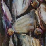 Florale VI, olieverf gem. techn. doek 0.40x1.20 2011-2012 Yvonne Kieft