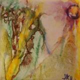 Florale XI a olieverf op doekje 10x10 Y.Kieft 2011