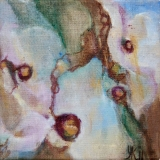 Florale VII, olieverf op doek 20x20 Yvonne Kieft 2011