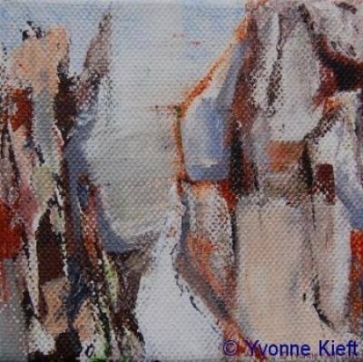 Landschappelijk II, acryl 10x10cm ●Yvonne Kieft 2009