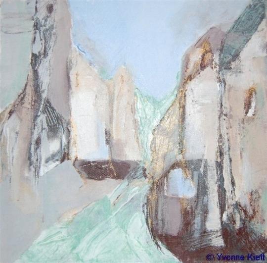 Verval IV, acryl 30x30x3,5 cm. ●Yvonne Kieft 2008