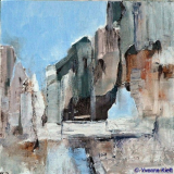 Verval III, acryl 30x30x3,5 cm. ●Yvonne Kieft 2007-2008