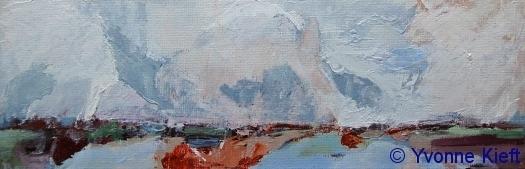 Friesland II, acryl 10x30 cm. 2009 Yvonne Kieft