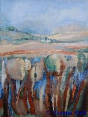 Landschap II 2011, olieverf op doek 24x18 Yvonne Kieft