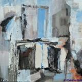 Verval II, acryl op doek 30x30x3,5 cm. ●Yvonne Kieft 2007-2008