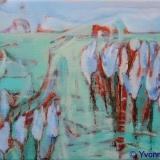 Landschap I, olieverf op doek 18x24 cm. Yvonne Kieft 2010