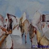 Landschappelijk; Het Dorp, acryl 13x10cm. ●Yvonne Kieft 2009