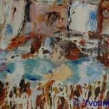 Dorp II olieverf gem. techn. papier 19x15cm. ●Yvonne Kieft 2009