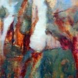 Landschap III 2011; de open plek, olieverf op doek 18x13 Yvonne Kieft