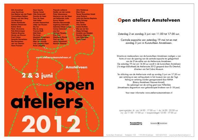 Open Ateliers Amstelveen 2012 uitnodiging